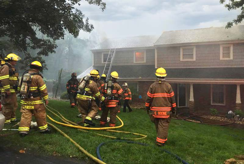 Picture of a house fire